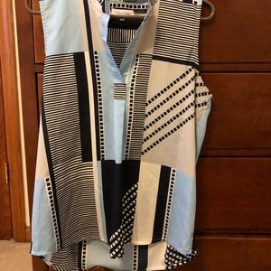 Calvin Klein multi-patterned blouse